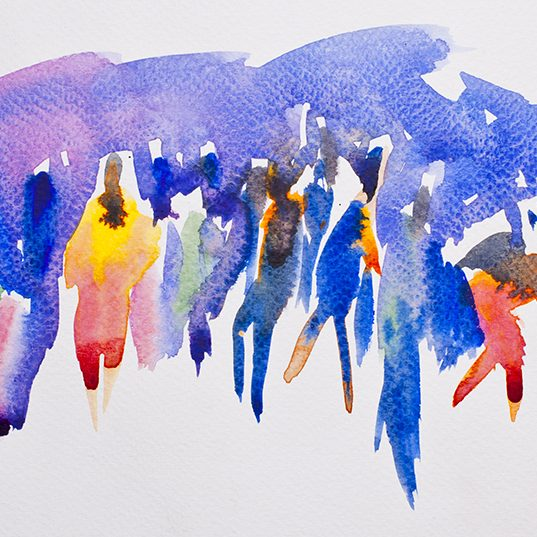 people watercolor